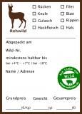 100x Rehwild-Wildbret-Aufkleber