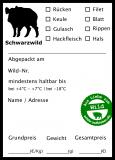 100x Schwarzwild-Wildbret-Aufkleber